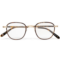 Garrett Leight California Optical Grant Square-Frame Acetate and Gold-Tone Optical Glasses