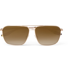 Barton Perreira - Troubadour Aviator-Style Gold-Tone Polarised Sunglasses