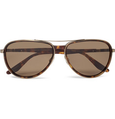 Barton Perreira - Gazarri Aviator-Style Acetate and Gold-Tone Sunglasses
