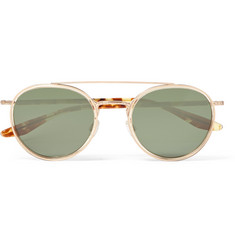 Barton Perreira Justice Round-Frame Gold-Tone and Acetate Sunglasses