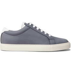 Brunello Cucinelli Apollo Full-Grain Leather-Trimmed Nubuck Sneakers