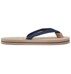 Brunello Cucinelli Cotton-Canvas Flip Flops