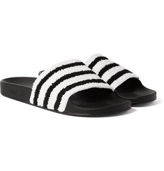 adidas Originals Adilette Striped Terry and Rubber Slides