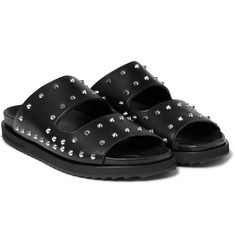 Alexander McQueen - Studded Leather Slides