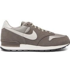 Nike Air Zoom Epic Luxe Nubuck, Leather and Mesh Sneakers