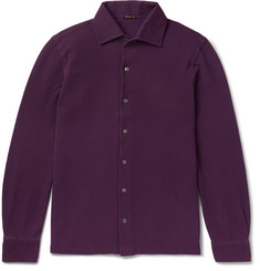 Rubinacci - Slim-Fit Cotton-Piqué Shirt