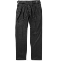 Rubinacci - Manny Tapered Pleated Wool Trousers
