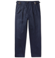 Rubinacci Manny Tapered Pleated Wool Trousers