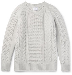 Kingsman Slim-Fit Cable-Knit Wool And Cashmere-Blend Sweater