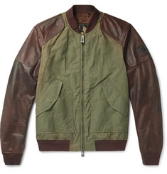 Belstaff - Stradbrooke Leather and Washed-Cotton Canvas Jacket