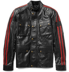 Belstaff Daytona Slim-Fit Striped Leather Jacket