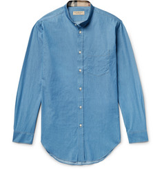 Burberry Grandad-Collar Denim Shirt