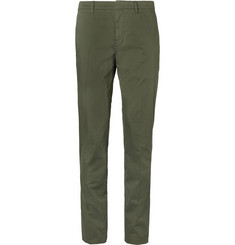 Burberry Slim-Fit Garment-Dyed Stretch-Cotton Twill Trousers