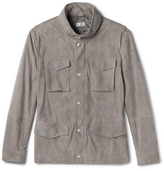 Brunello Cucinelli Slim-Fit Corduroy-Effect Suede Field Jacket