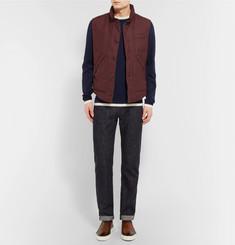 Brunello CucinelliSlub Wool, Linen and Silk-Blend Down Gilet
