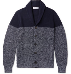 Brunello Cucinelli Two-Tone Melange Cotton Cardigan