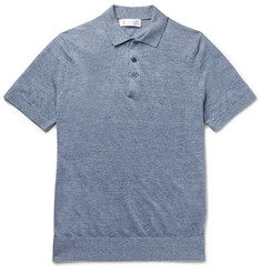 Brunello Cucinelli - Slim-Fit Mélange Linen and Cotton-Blend Polo Shirt