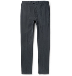 Brunello Cucinelli - Slim-Fit Seam-Detailed Cotton-Twill Trousers
