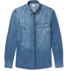 Brunello Cucinelli - Slim-Fit Washed-Denim Shirt