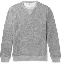 Brunello Cucinelli - Mélange Loopback Cotton-Jersey Sweatshirt