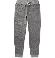 Brunello Cucinelli - Tapered Mélange Cotton-Jersey Sweatpants