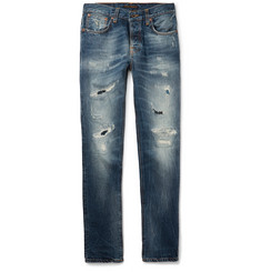 Nudie Jeans Grim Tim Distressed Organic Denim Jeans