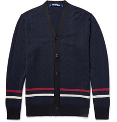 Junya Watanabe - Striped Wool and Silk-Blend Cardigan