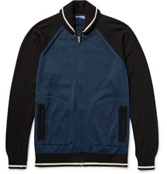 Junya Watanabe Embroidered Wool-Blend Zip-Up Cardigan