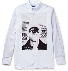 Junya Watanabe Slim-Fit Button-Down Collar Printed Striped Cotton Shirt