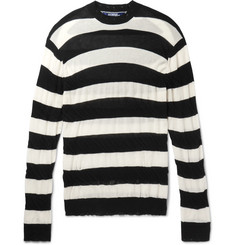 Junya Watanabe Distressed Striped Cotton Sweater