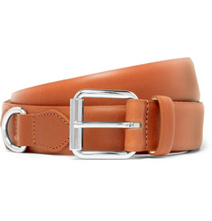 A.P.C. 3cm Camel Fabien Leather Belt