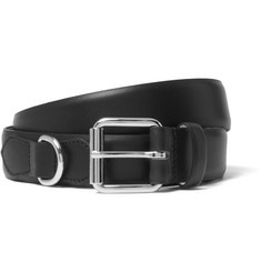 A.P.C. 3cm Black Fabien Leather Belt