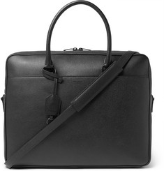 Saint Laurent - Full-Grain Leather Briefcase