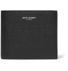 Saint Laurent - Pebble-Grain Leather Billfold Wallet