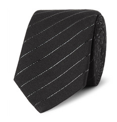 Saint Laurent 5.5cm Striped Cotton-Blend Tie