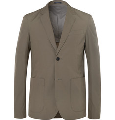 Jil Sander Green Slim-Fit Cotton Blazer