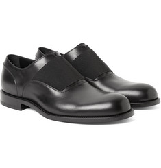 Jil Sander Elastic-Trimmed Polished-Leather Oxford Shoes