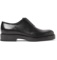 Jil Sander Whole-Cut Polished-Leather Oxford Shoes