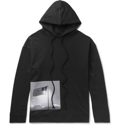 Raf Simons + Robert Mapplethorpe Foundation Printed Loopback Cotton-Jersey Hoodie