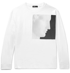 Raf Simons + Robert Mapplethorpe Foundation Printed Oversized Cotton-Jersey T-Shirt