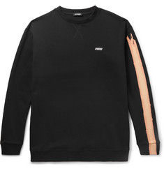 Raf Simons Oversized Printed Loopback Cotton-Jersey Sweatshirt