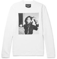 Raf Simons + Robert Mapplethorpe Foundation Printed Loopback Cotton-Jersey Sweatshirt