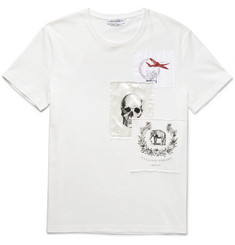 Alexander McQueen Slim-Fit Appliquéd Cotton-Jersey T-Shirt