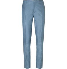 Alexander McQueen Blue Slim-Fit Mohair and Silk-Blend Suit Trousers