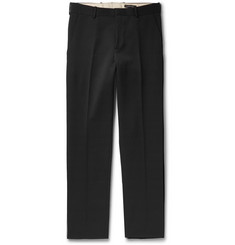 Alexander McQueen Black Slim-Fit Wool Trousers