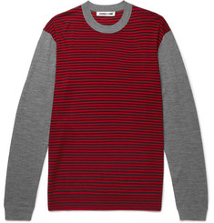 McQ Alexander McQueen Slim-Fit Striped Merino Wool Sweater