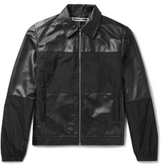 McQ Alexander McQueen Viper Panelled Leather and Shell Blouson Jacket