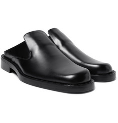 Balenciaga - Leather Backless Loafers