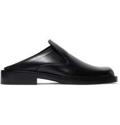 Balenciaga Leather Backless Loafers