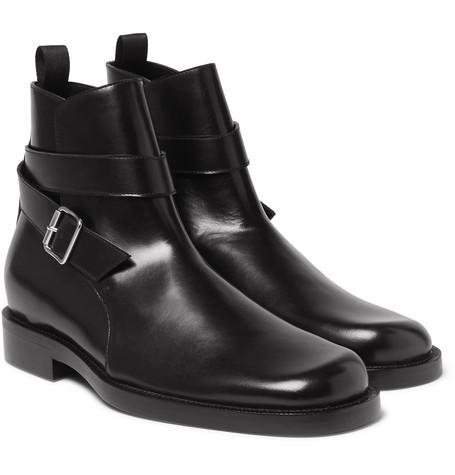Leather Jodhpur Boots - Black